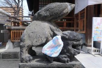 北海道神宮頓宮 子宝に恵まれるというの狛犬様
