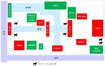 琴似神社 境内マップ