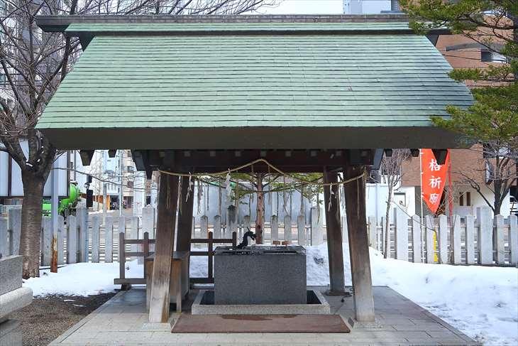 北海道神宮頓宮の手水舎