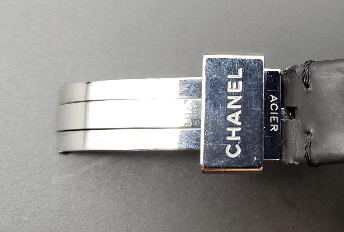 CHANEL J12 BLACK 33mm LEATHER BELT H0680
