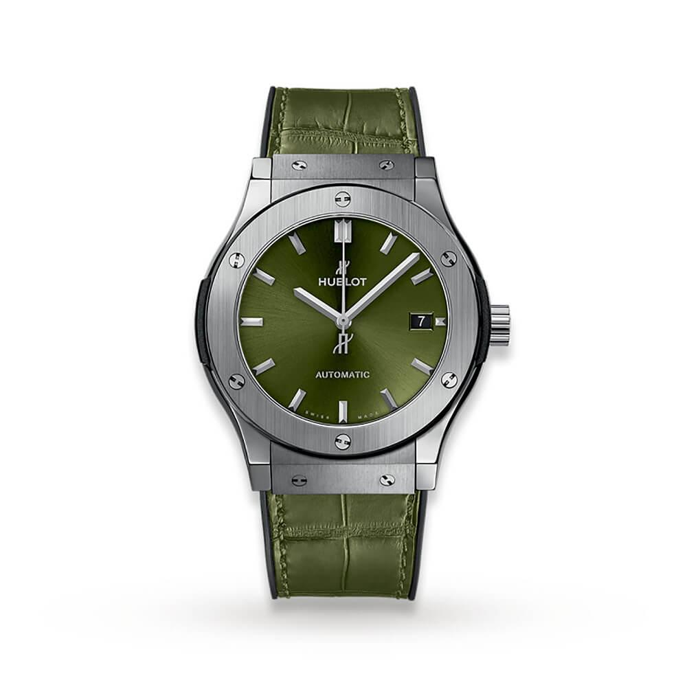 HUBLOT クラシックフュージョン チタニウム グリーン 565.NX.8970.LR