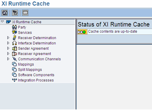 Monitoring of XI Runtime cache