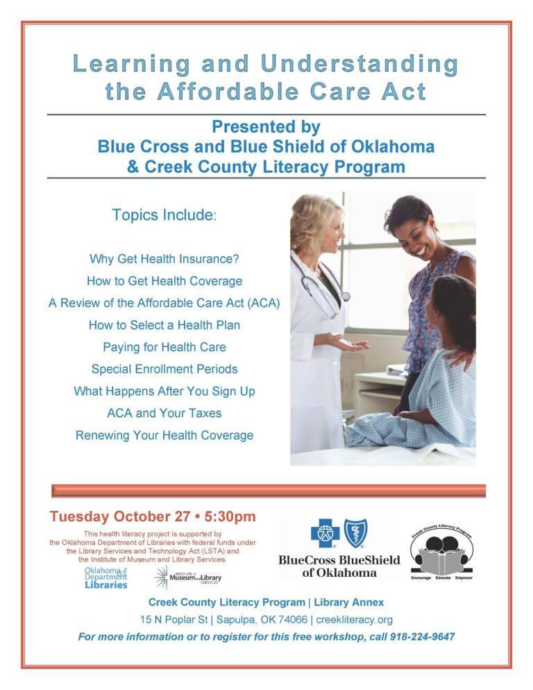 Free Workshop: Learning and Understanding the Affordable Care Act