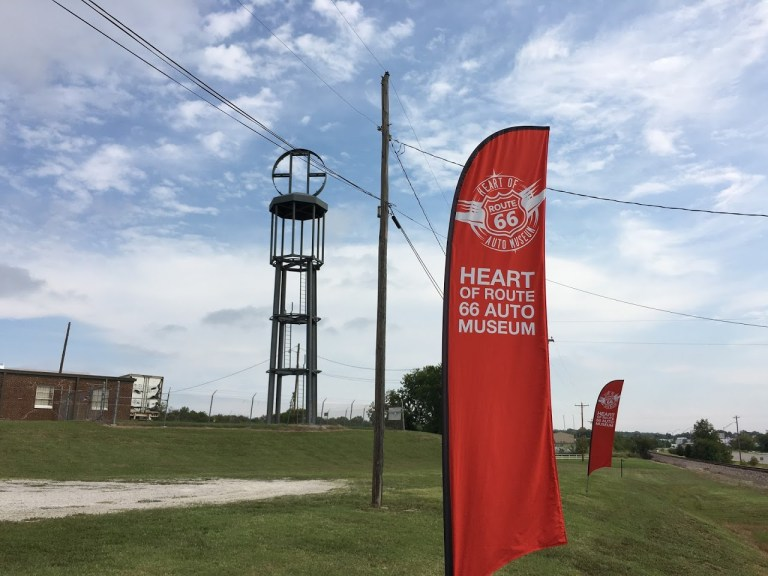 66-foot-tall vintage-inspired gas pump nears completion at Heart of Route 66 Auto Museum