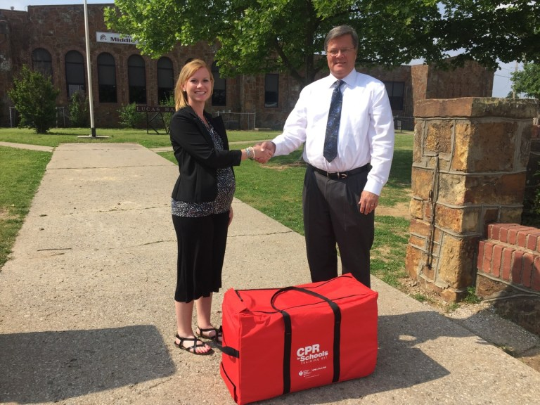 Webco Donates CPR Training Kits to Kellyville High School and Others