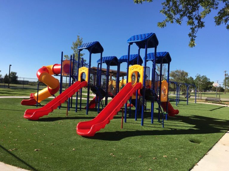 VIDEO: Church unveils brand new colorful playground