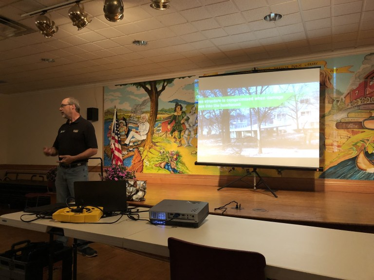 Master Gardeners learn about tree planting and pruning