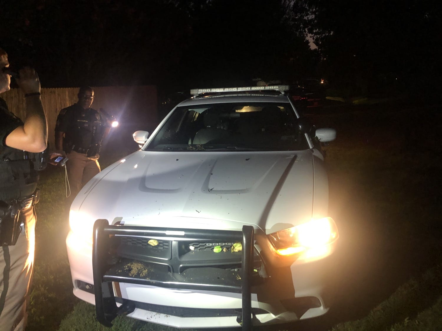 This Sapulpa Police patrol car was stolen by a suspect who had just been arrested for stealing another vehicle.