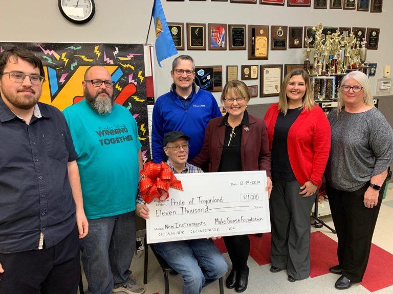 Kiefer Band gets $11,000 gift from Make Sense Foundation