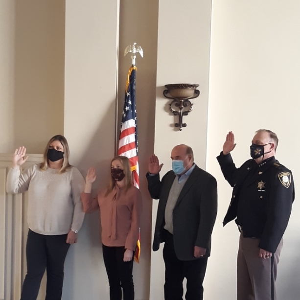 Four county officials sworn in at County Commissioners Meeting