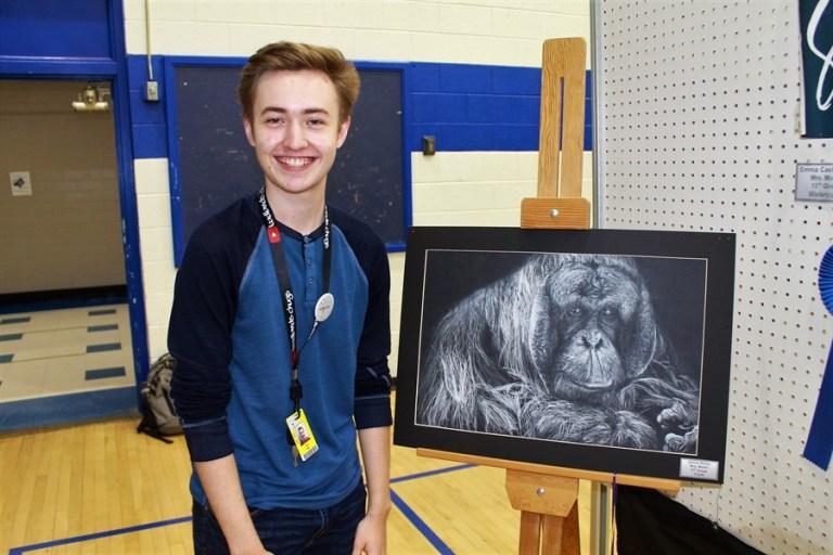 Photos: Junior wins 10 awards, top honor at Student Art Show