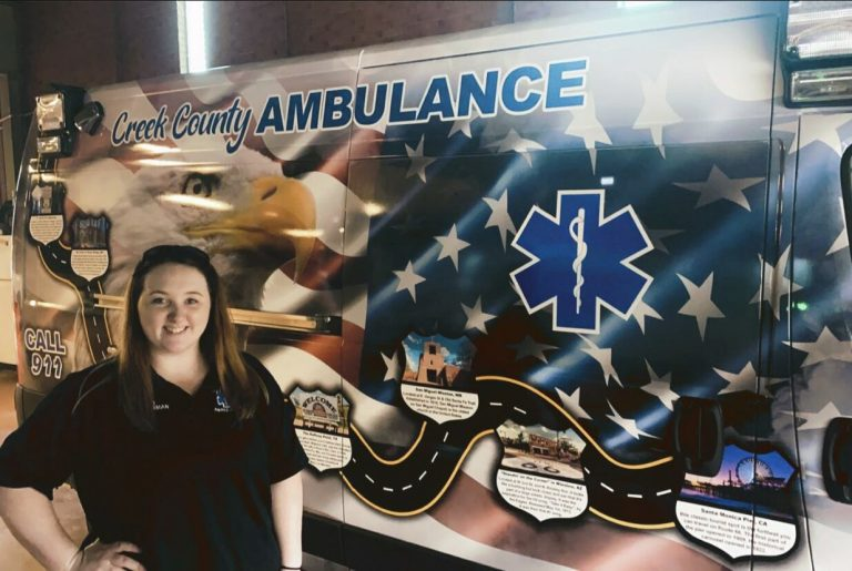Two receive scholarships while studying to be paramedics