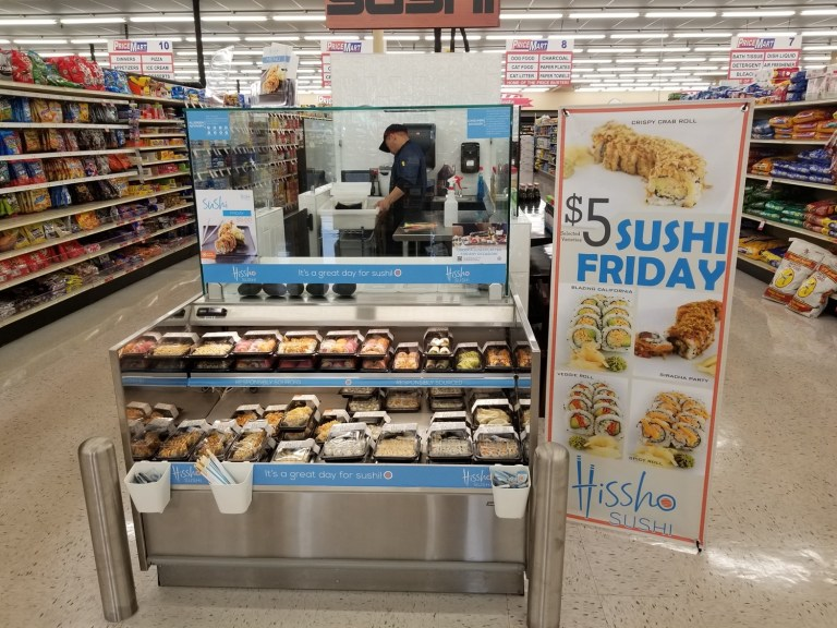 Sapulpa Price Mart offers self-service sushi