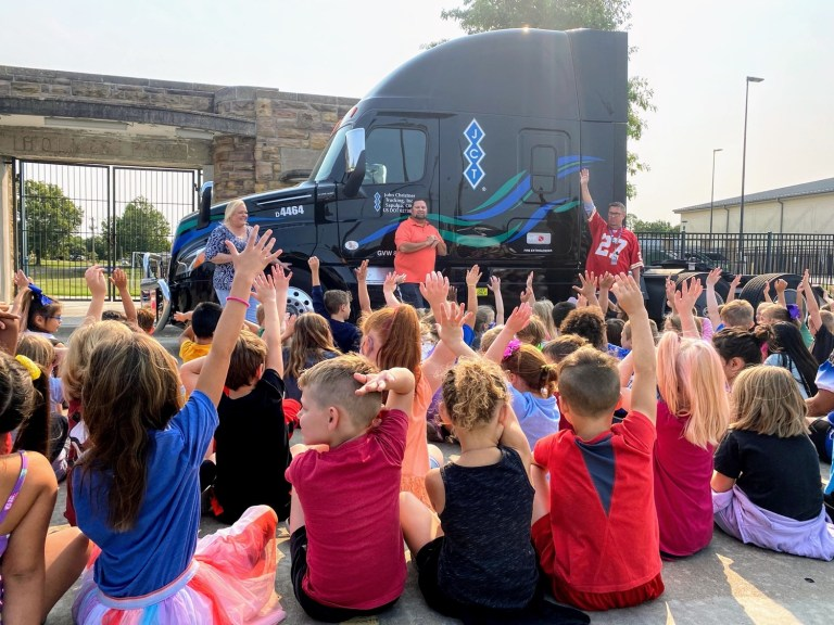 Holmes Park shows its Husky appreciation for truck drivers