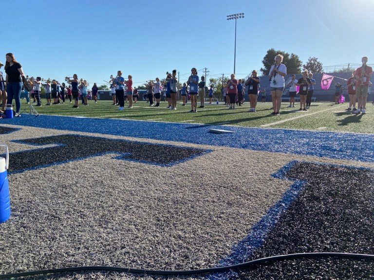 """""""Candyland"""" board game comes to life with Sapulpa High School marching band"""