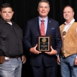 Leewright receives award from Sheriffs' Association