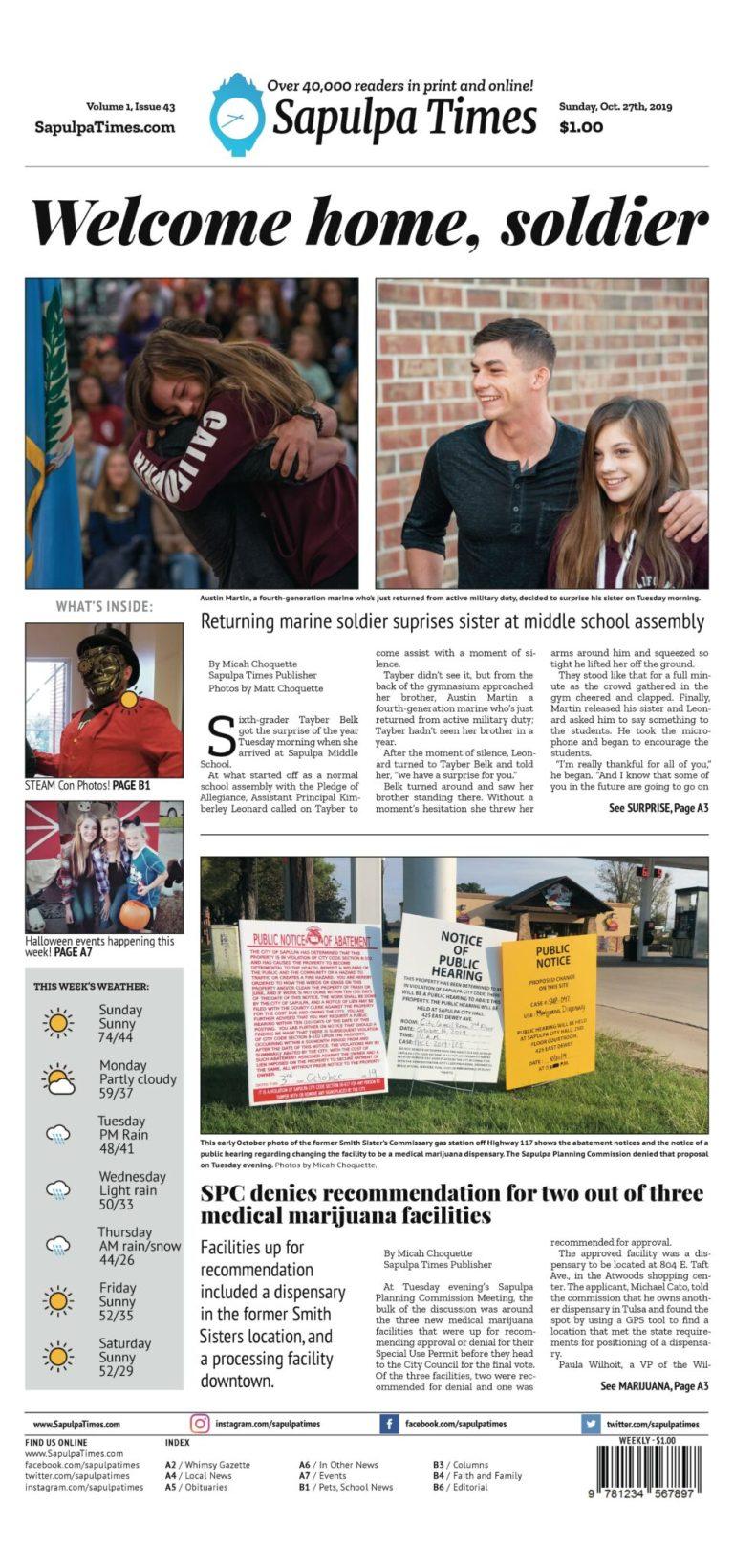 Sapulpa Times Digital Edition 10/27/2019