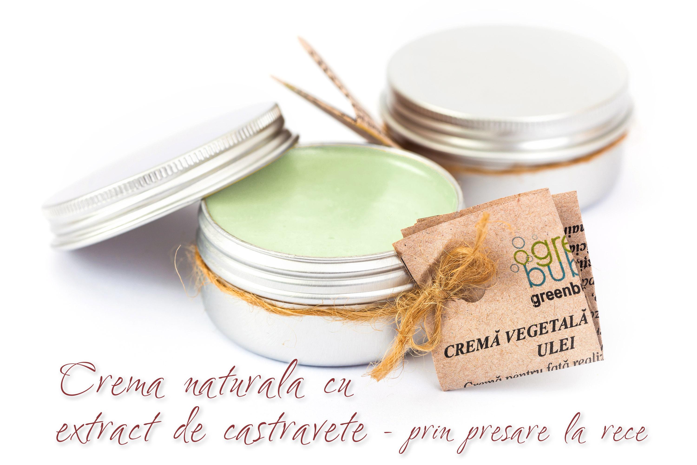 Crema Naturala cu Extract de Castravete (extract realizat prin presare la rece)
