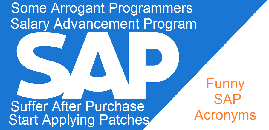 Do You Know These Funny Acronyms For Sap