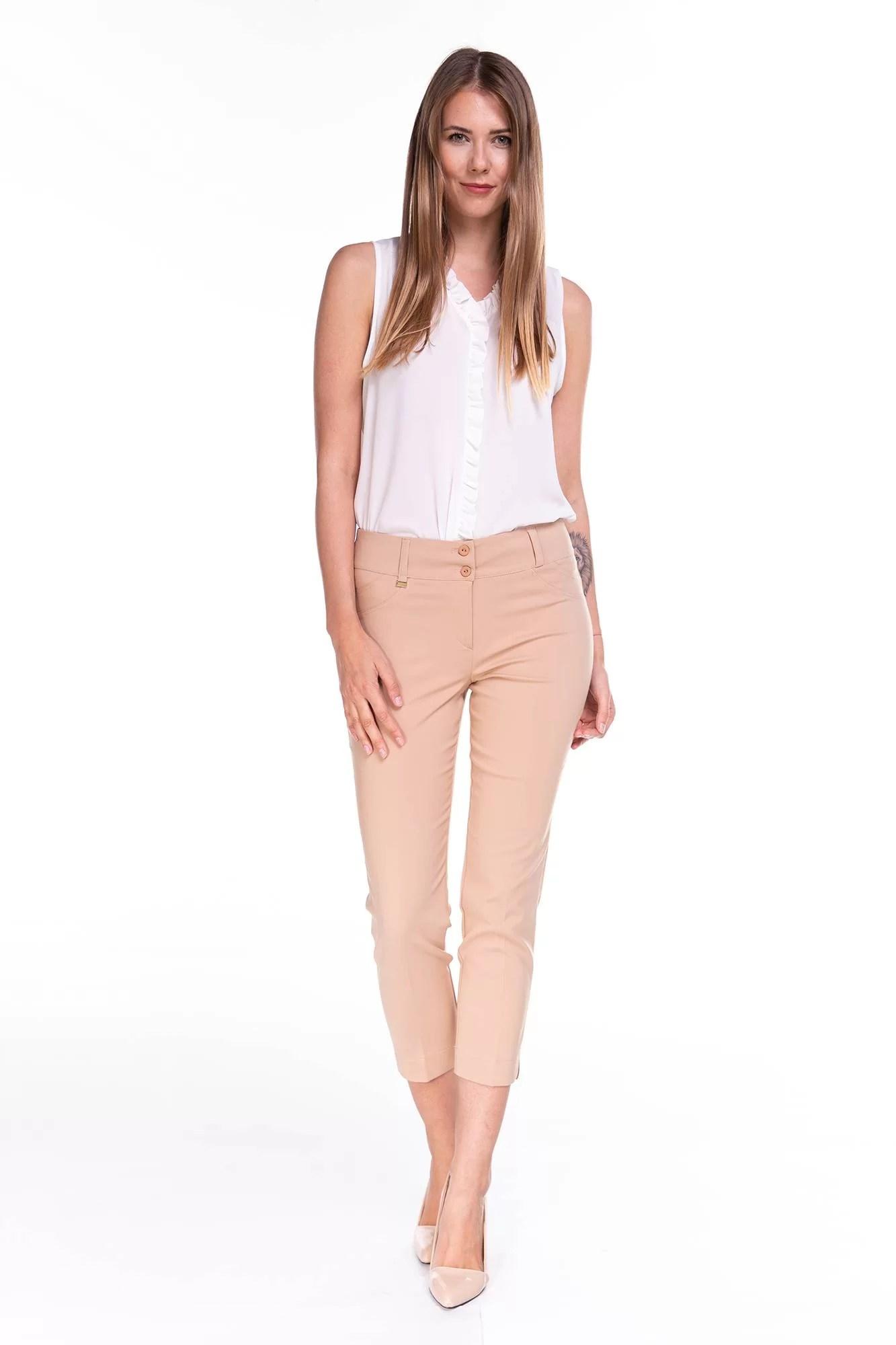 Spodnie Capri Beżowe
