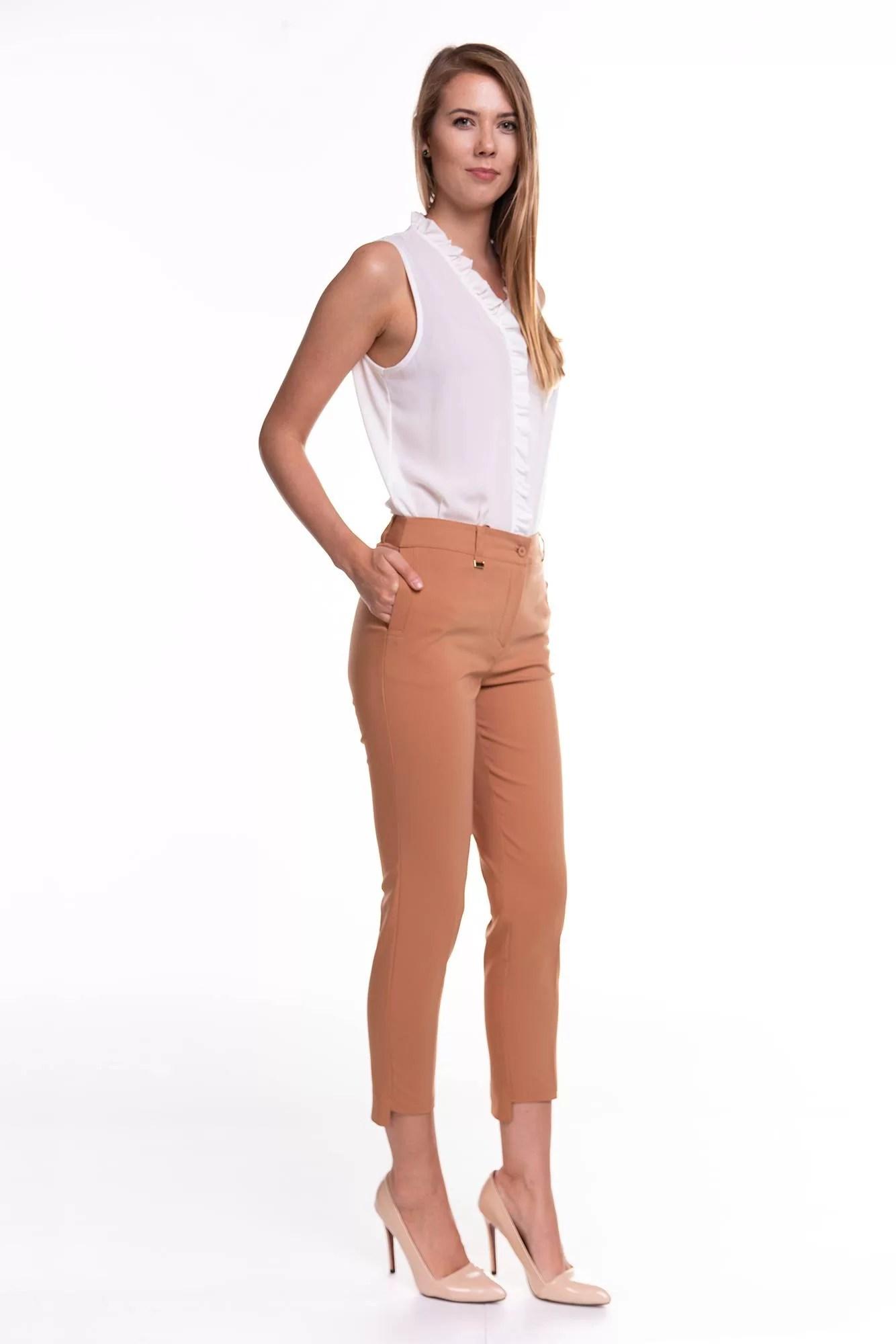 Spodnie Rozenki Brązowe