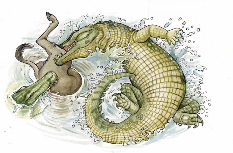 Krokodil-Gnu