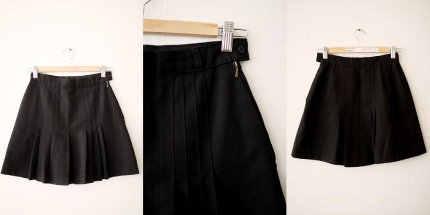 14 - svart veckad kjol