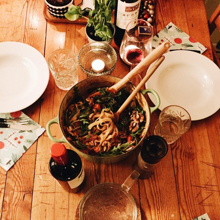 middag hos yrsa