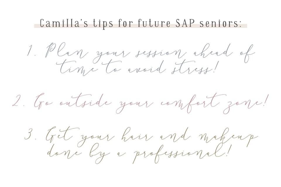 senior photo session tips
