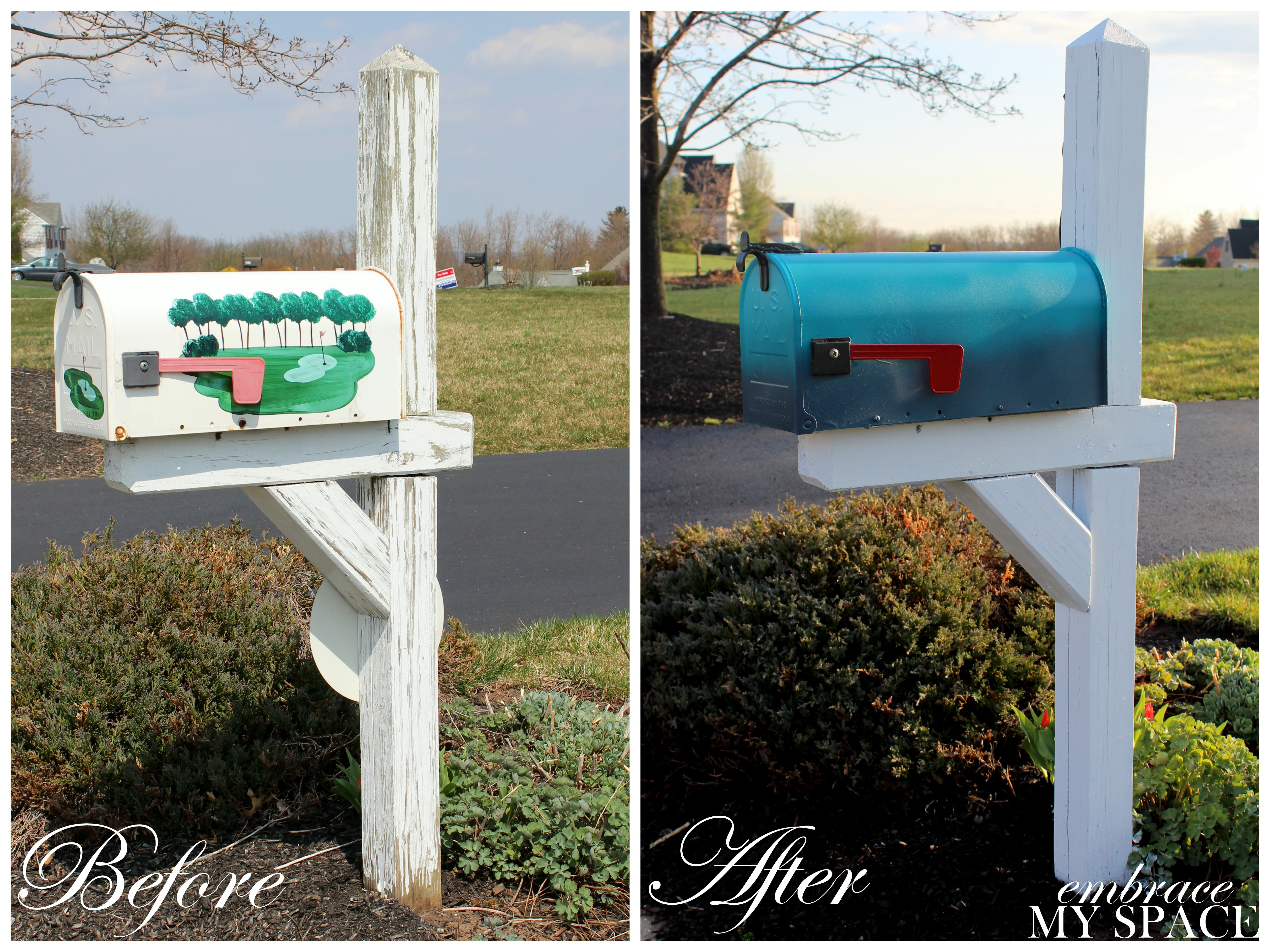 Why Buy When You Can Diy Ombre Mailbox