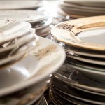 gold, Vintage, mix and match china plates for wedding reception