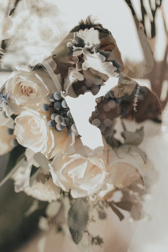 Ecclectic, intimate wedding with jewel tone bouquets in Rockford, Illinois by Sara Anne Johnson