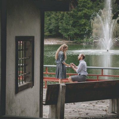 Caitlin + Jon | Rotary Botanical Gardens Surprise Engagement