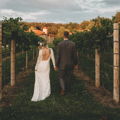 Mid-Mod Meets Boho with Lovely Bride at romantic D.C. Estate Winery in South Beloit, Illinois