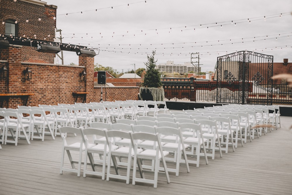 Indie Glam rooftop Wedding at the chic downtown Rockford venue The Standard by Sara Anne Johnson