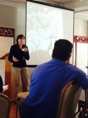 Giving a presentation at the New England Estuarine Reserve Society's Spring 2014 Conference
