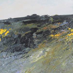 Gorse and Bluebells -Oil Painting on board