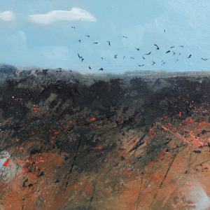 Birds over the Marsh - Oil Painting
