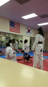 Trying out Tae Kwan Do