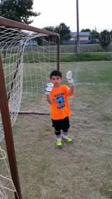 Goalie - He loves it!