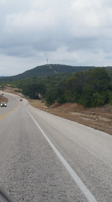 Driving towards Bandera, Texas
