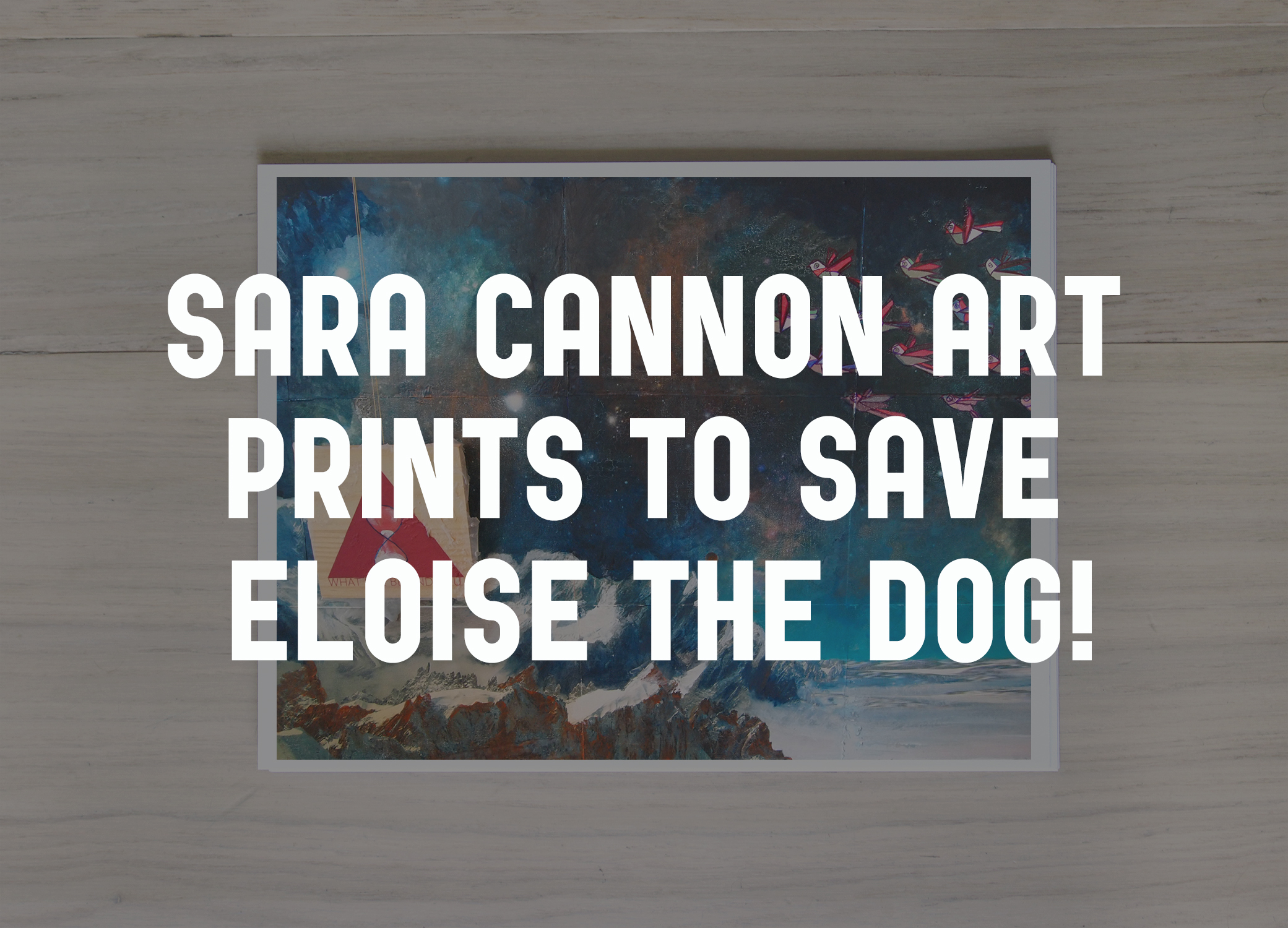 Sara Cannon Art donating procedes form all prints starting this #GivingTuesday