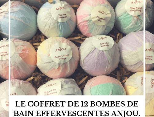 Le coffret de 12 bombes de bain effervescentes Anjou.