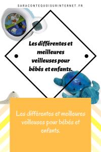 Les différentes et meilleures veilleuses pour bébé et enfants.