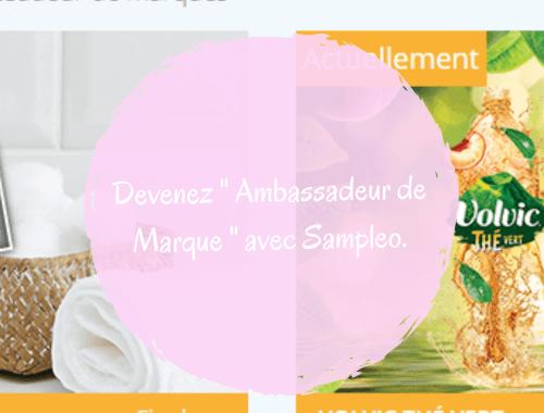 Avis Sampleo, site de test de produit _ [ Ambassadeur de marque ]