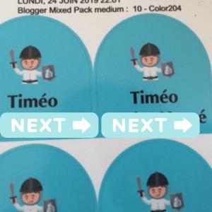 étiquettes personnalisées stikerkid