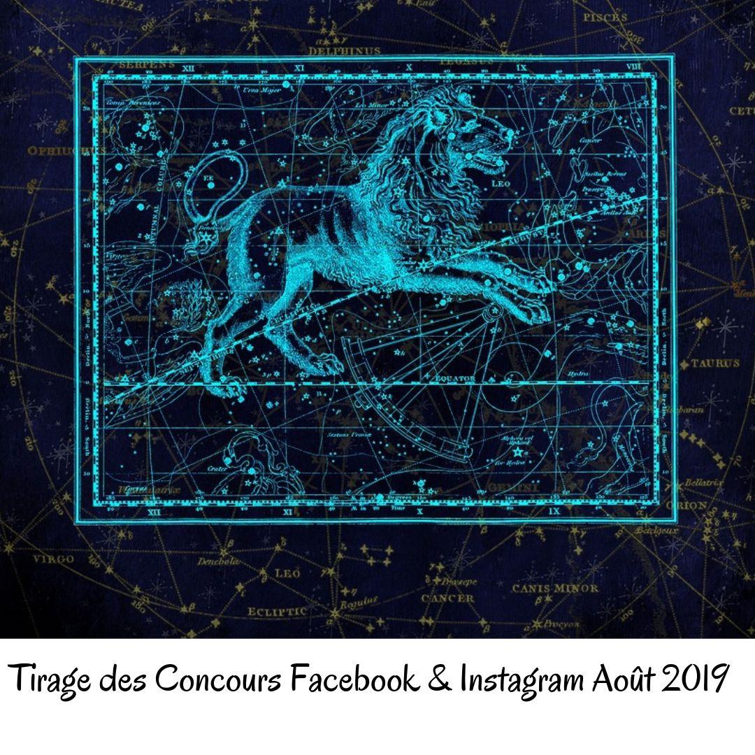 Tirage des Concours Facebook & Instagram Août 2019