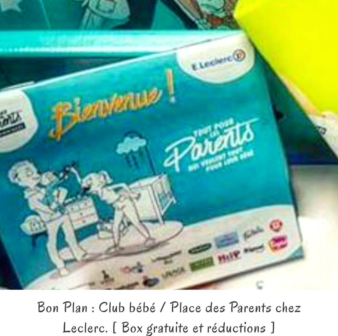 Bon Plan: Club bébé Leclerc - [Box gratuite et réductions]