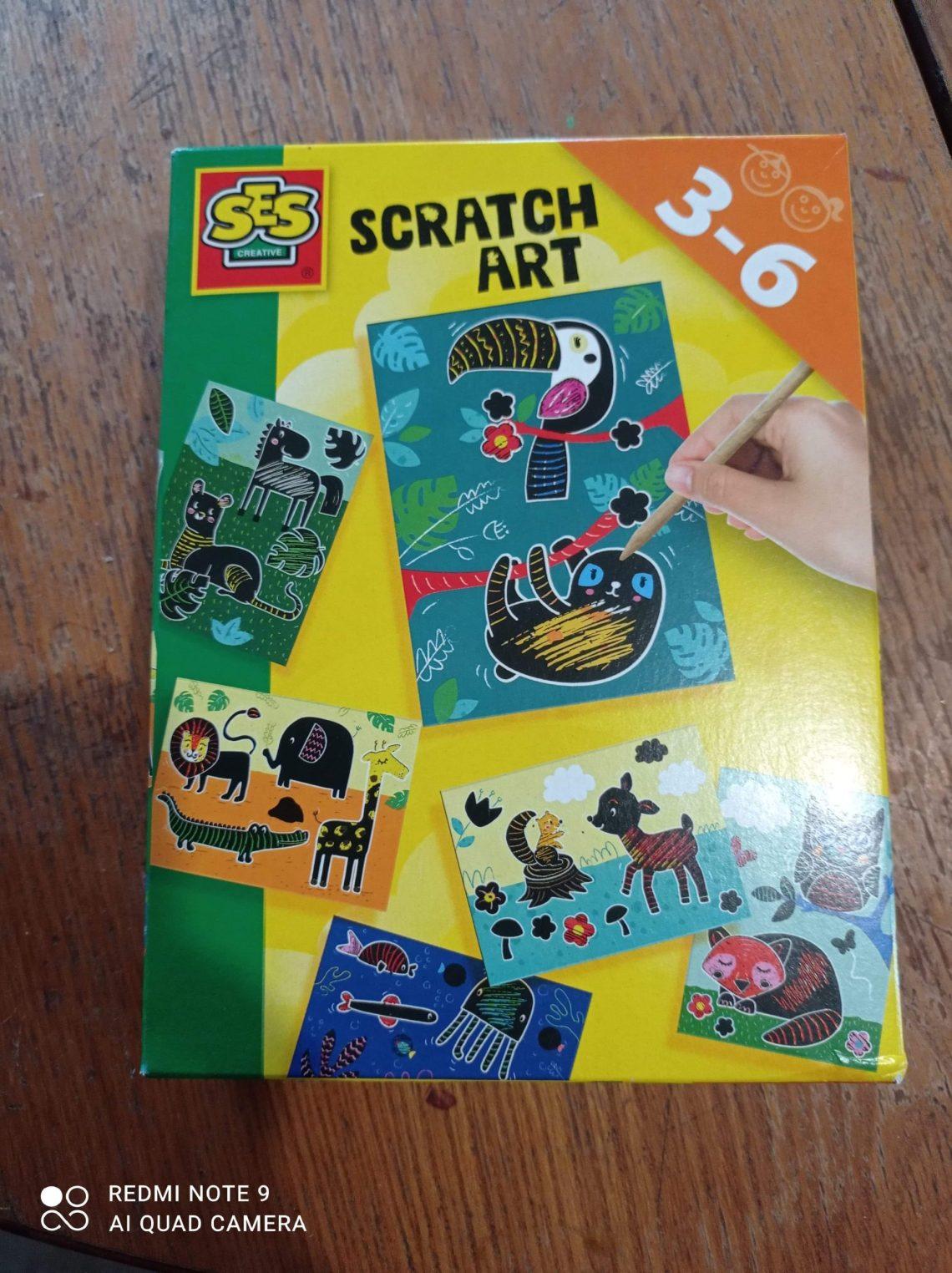 Qu'est-ce que le Scratch Art que nous propose la marque SES Créative ?