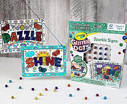 Loisirs créatifs : Zoom et Avis sur le coffret Crayola Glitter Dots.